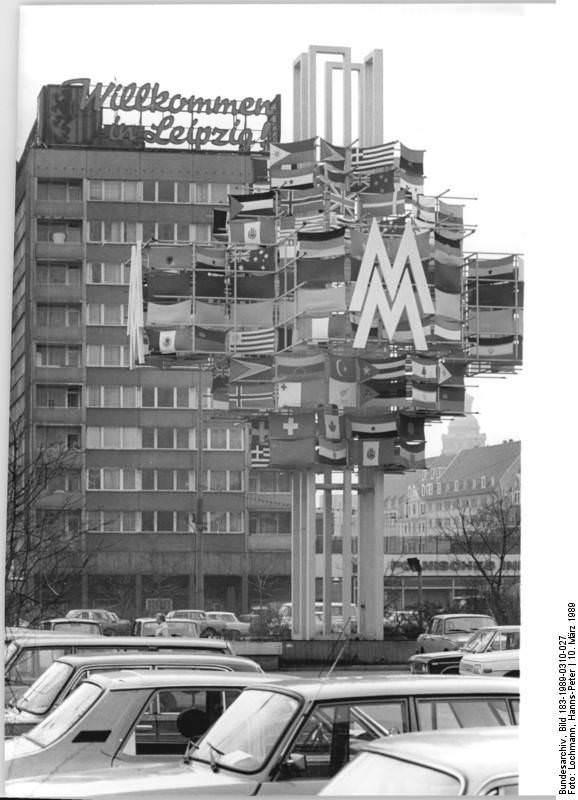 Leipzig, Messeymbol, Hochhaus