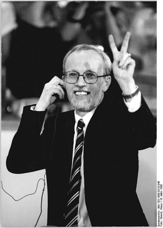 Berlin, Volkskammerwahl, Lothar de Maizière. Quelle: Bundesarchiv, Bild 183-1990-0318-046, Fotograf: Klaus Oberst