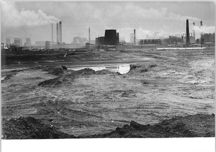 Braunkohleveredelungswerk Espenhain. Quelle: Bundesarchiv, Bild 183-1990-0713-021, Fotograf: Waltraud Grubitzsch
