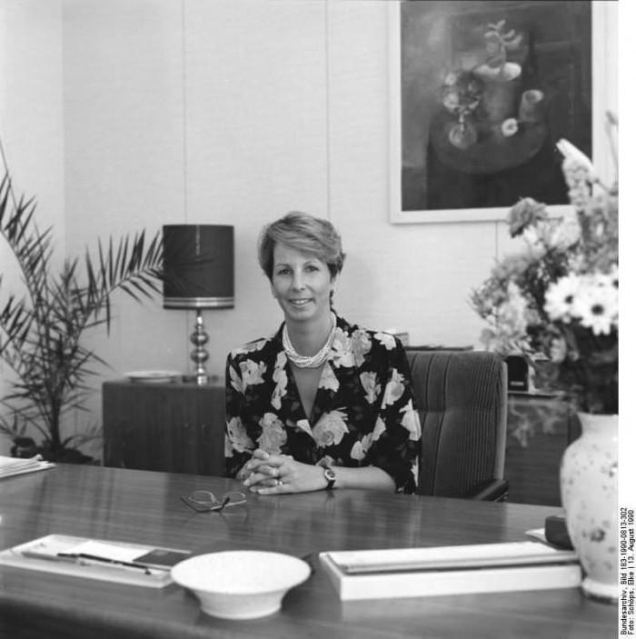Berlin, Dr. Sabine Bergmann-Pohl. Quelle: Bundesarchiv, Bild 183-1990-0813-302, Fotograf: Elke Schöps
