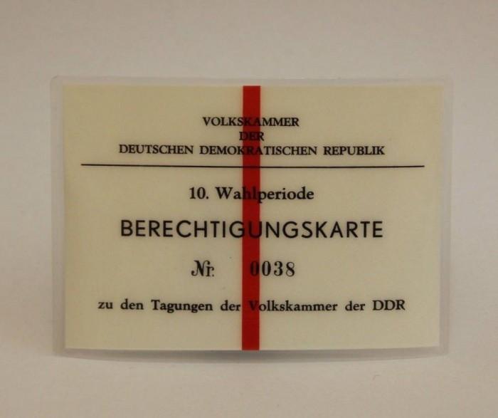 Berechtigungkarte. Quelle: Privatarchiv Hans-Jürgen Niehof