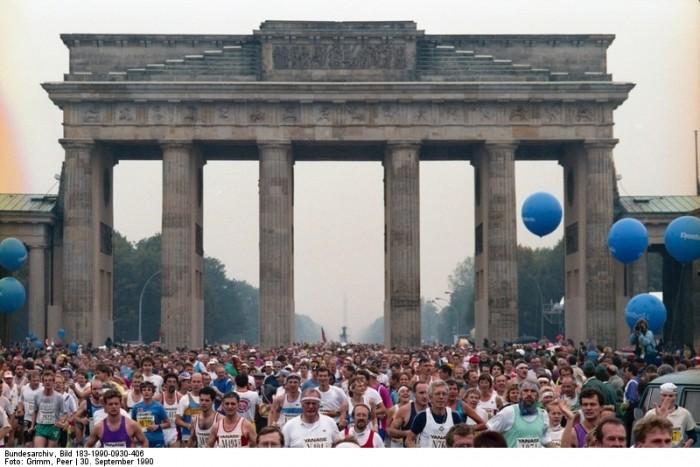 Berlin-Marathon am 30. September 1990.
