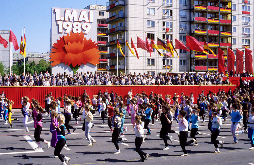 Demonstration zum 1. Mai in Ost-Berlin