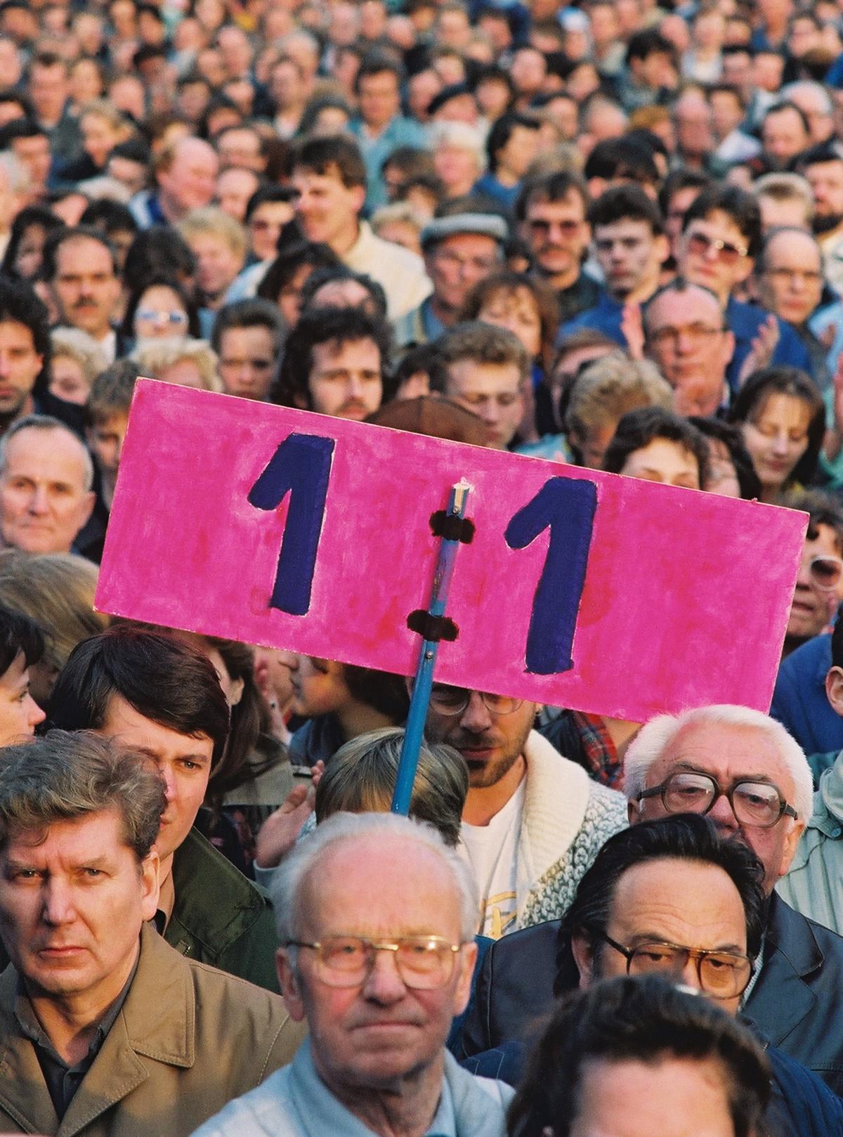 Demonstration in Ost-Berlin. Quelle: Bundesregierung / Lehnartz