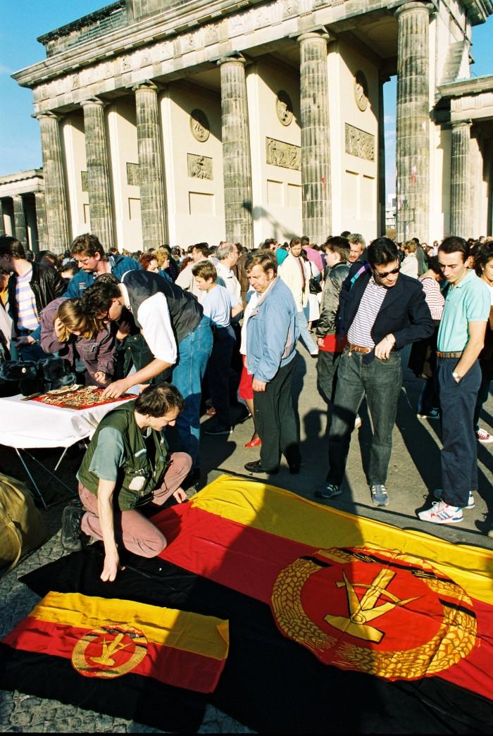 Feier zur Wiedervereinigung 3. Oktober 1990 in Berlin. Quelle: Bundesregierung / Lehnartz