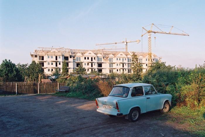 Neubaugebiet in Leipzig-Paunsdorf, 1994.