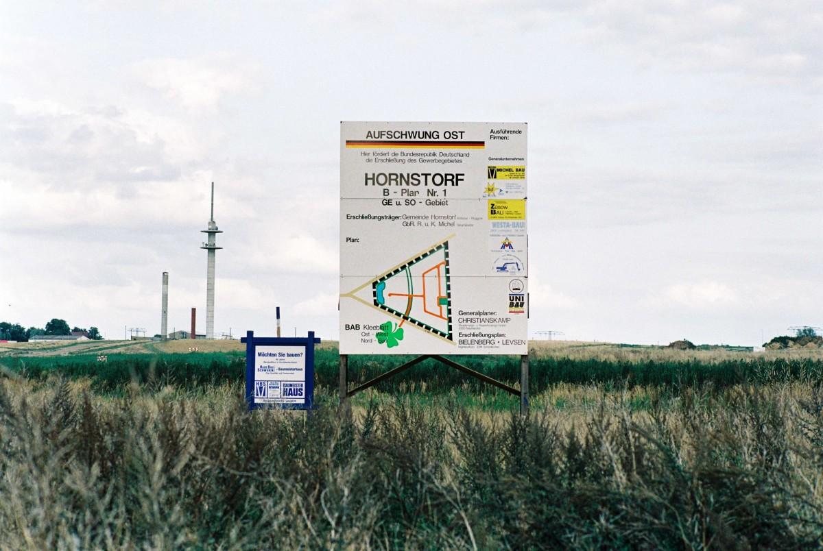 Geplantes Gewerbegebiet in Hornsdorf bei Wismar, August 1992