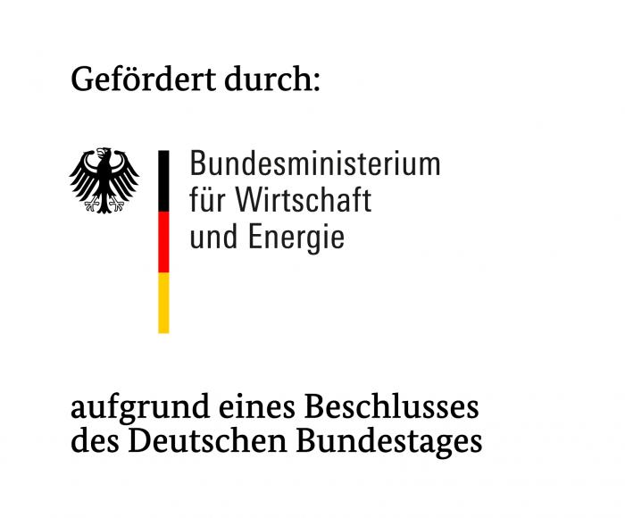 Förderlogo des Bundesministeriums für Wirtschaft und Energie. Quelle: BMWi