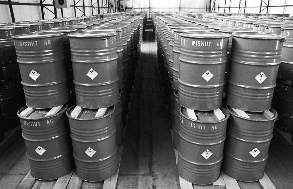 Radioaktive Altlasten der SDAG Wismut. Quelle: Bundesstiftung Aufarbeitung, Fotobestand Klaus Mehner, 91_0708_WIF_UranA_05