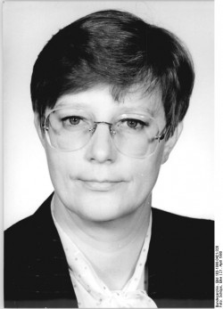 Sybille Reider im April 1990.