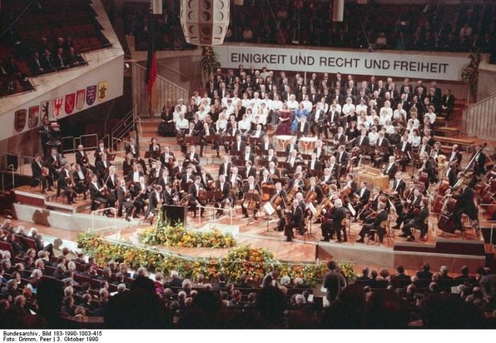 Berlin, Tag der Deutschen Einheit, Staatsakt. Quelle: Bundesarchiv, Bild 183-1990-1003-415, Fotograf: Peter Grimm