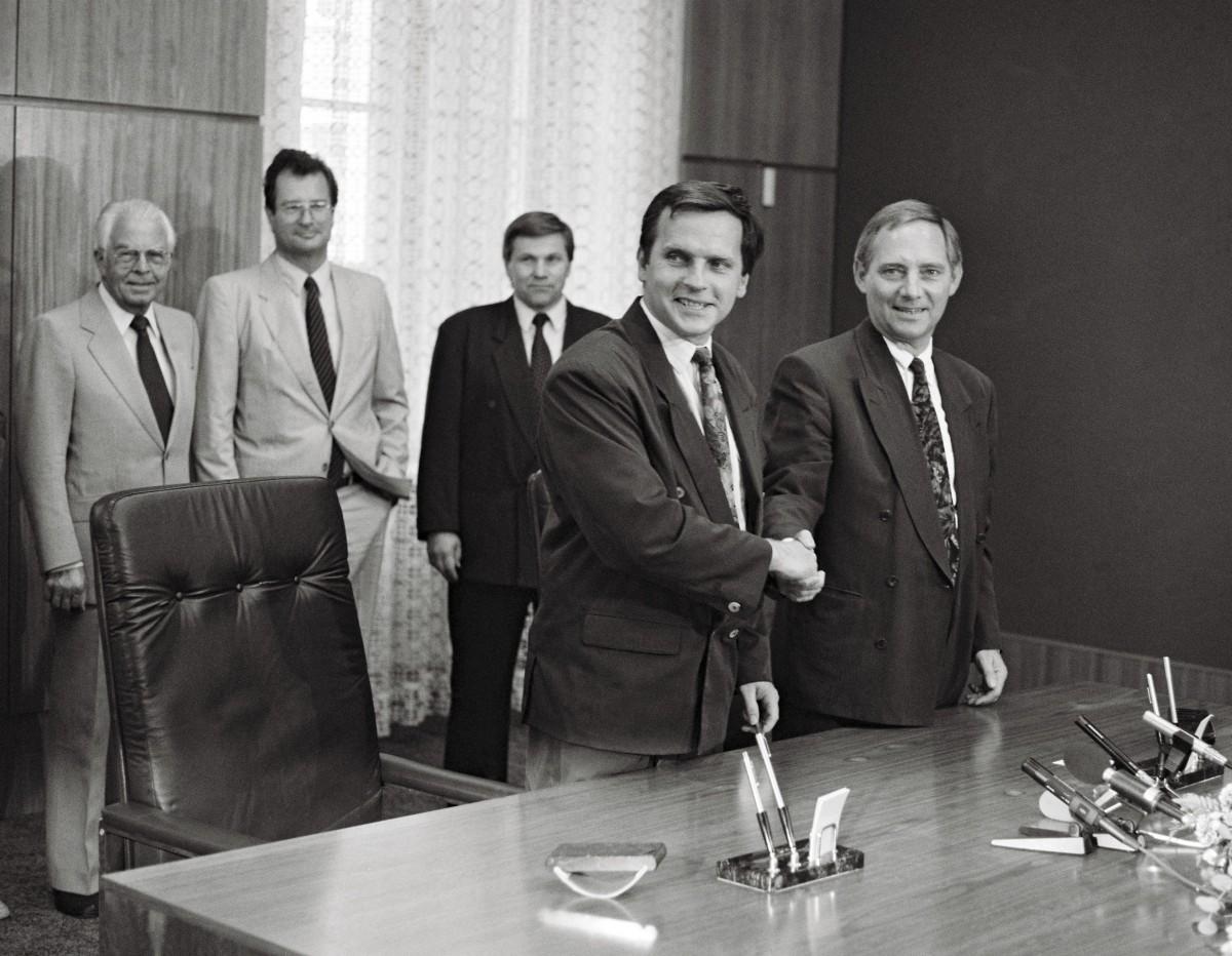 Krause, Schäuble, Verhandlungen zum EinigungsvertragBundesregierung / Reineke