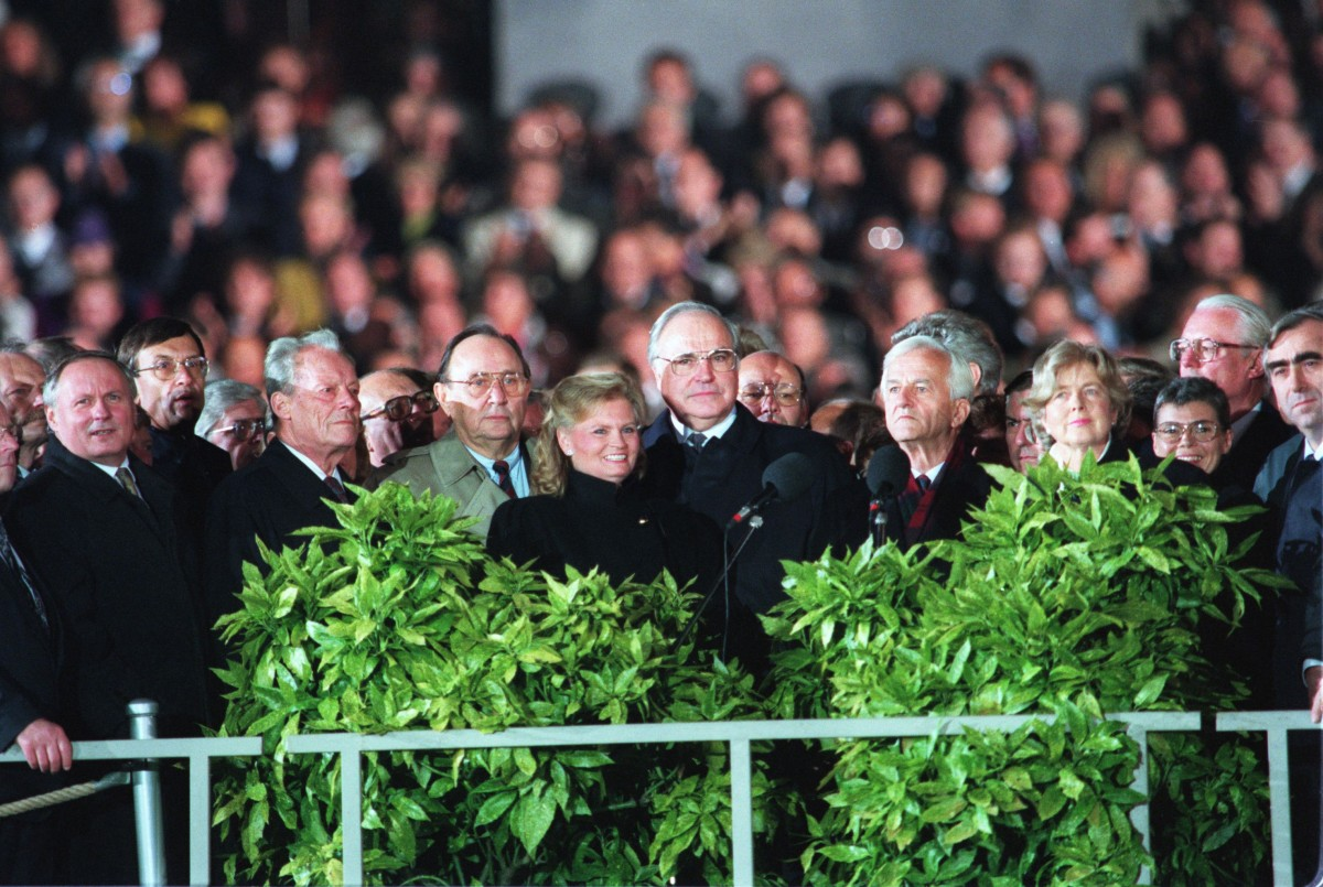 Tag der Deutschen Einheit 1990 / Reichstag. Quelle: Bundesregierung / Stutterheim