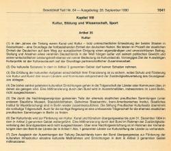 Artikel 35, Einigungsvertrag. Quelle: Gesetzblatt der DDR, Teil I, 1990, Nr. 64