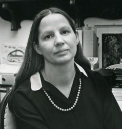Portrait von Gabriele Muschter 1986. Foto: Franz Zadnicek, Dresden