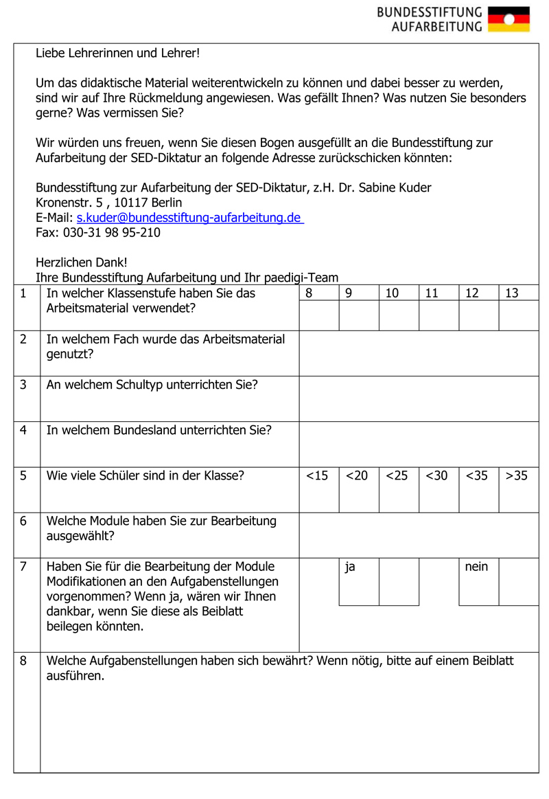 Evaluationsbogen