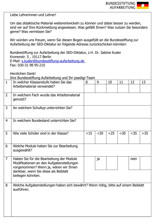 Unterrichtsmaterial | Deutsche Einheit 1990