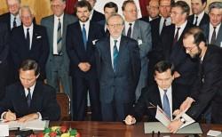Unterzeichnung des Einigungsvertrags 1990